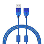 Cwxuan USB 2.0 Удлинитель, USB 2.0 to USB 2.0 Удлинитель Male - Female 1.2m (4FT) 480 Мб/сек.