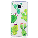 Hoesje voor Samsung Galaxy a3 (2017) a5 (2017) hoesje hoesje cactus patroon geverfd hoge penetratie tpu materiaal imd proces soft case