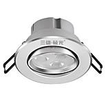 1шт 3w утопленный светодиодный свет прожектор светлый белый ac220v размер отверстие 75mm 6000k