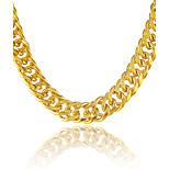Муж. Ожерелья-цепочки Геометрической формы Змея Позолота Rock Массивные украшения Металлик Панк По заказу покупателя Хип-хоп Бижутерия