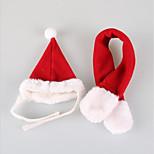 Кошка Собака Банданы и шляпы Одежда для собак Для вечеринки Косплей На каждый день Спорт Рождество Сплошной цвет Красный