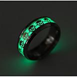Муж. Жен. Классические кольца Мода Титановая сталь В форме черепа Бижутерия Назначение Повседневные