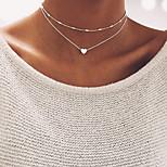 Жен. Ожерелья-бархатки Бижутерия В форме сердца Сплав Базовый дизайн Бижутерия НазначениеСвадьба Для вечеринок День рождения Обручение