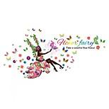 Романтика Цветы фантазия Наклейки Простые наклейки 3D наклейки Декоративные наклейки на стены 3D,Бумага Винил материал Украшение дома