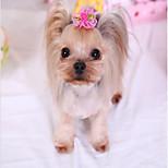 Кошка Собака Аксессуары для шерсти Одежда для собак Для вечеринки Косплей На каждый день Свадьба Хэллоуин Рождество Новый годСплошной