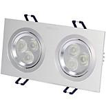 1шт 6w утопленный светодиодный свет прожектор светло-желтый / теплый белый / белый ac220v размер отверстие 170 мм угол луча 25