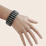 Муж. Мальчики Браслет цельное кольцо Браслет разомкнутое кольцо Кожаные браслетыГеометрический Двусторонний Ручная работа Сделай-сам