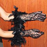 Masquerade adies высококачественные женские перчатки кружевные перчатки uv солнцезащитный крем летняя часть тонких перчаток белый / черный