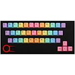 Abs 37 клавиш подсветка радуги keycaps розовый для механической клавиатуры