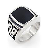 Муж. Кольца на вторую фалангу Классические кольца Базовый дизайн Гипоаллергенный Нержавеющая сталь В форме квадрата Бижутерия Назначение