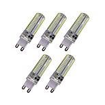 4W Двухштырьковые LED лампы T 104 SMD 3014 340 lm Тёплый белый Белый AC 220-240 V 5 шт. G9