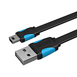 USB 2.0 Кабель, USB 2.0 to Mini USB Кабель Male - Male 0.25m (0.8Ft)