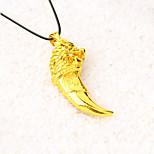 Муж. Ожерелья с подвесками Ожерелья-цепочки В форме животных Волк Позолота Металлик Мода Панк Хип-хоп Rock Бижутерия Назначение