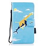 для футляра для карточек держатель кошелек с подставкой магнитный рисунок полный корпус корпус животное твердая кожа pu для huawei huawei