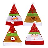 4шт рождественские шляпы для взрослых Санта-эль снеговик рождественская вечеринка Санта-шляпа красная белая шапка для новогодних украшений