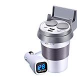 hsc hsc-500 автомобильное зарядное устройство на дисплее 2 выхода 2 порта USB 3.1a dc 12v-24v