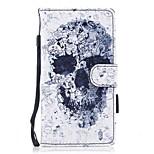 для чехлов чехол для карточек держатель кошелек с подставкой флип магнитный рисунок полный корпус чехол череп твердый кожа pu для huawei