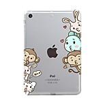 Назначение iPad (2017) Чехлы панели Прозрачный С узором Задняя крышка Кейс для Прозрачный Животное Мультипликация Мягкий Термопластик для
