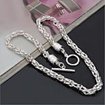 Муж. Ожерелья-бархатки Бижутерия Дракон Серебрянное покрытие Простой стиль Бижутерия Назначение Повседневные