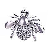 Муж. Жен. Броши Кристалл Стразы Классика Мода Серебрянное покрытие Позолота В форме животных пчела Бижутерия Назначение Повседневные