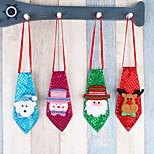 4pc рождественские украшения взрослые дети школьные украшения небольшие подарки творческие маленькие подарки галстук светящийся