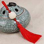 сумка / телефон / брелок очарование лотоса кристалл / страпон стиль кисточка кристалл полиэстер китайский стиль