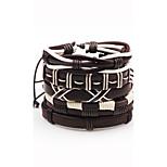 Муж. Жен. Кожаные браслеты Богемия Стиль Регулируется Кожа В форме линии Бижутерия Назначение Для сцены Для клуба