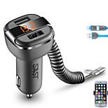 sast ay-t52 автомобильное зарядное устройство держатель телефона дисплей напряжение тока быстрая зарядка 100 см 2 порта USB 3.4a dc