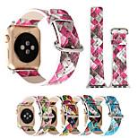 38 / 42мм геометрические отпечатки красочные браслеты браслет кожаные часы для яблок часы iwatch серии 1/2