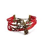Муж. Жен. Wrap Браслеты Кожаные браслеты Панк Многослойный Кожа Сплав В форме животных Бижутерия Бижутерия Назначение Повседневные Для