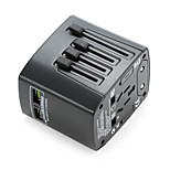 универсальный адаптер для путешествий 4.8a 2 порта для зарядки USB по всему миру в одном универсальном зарядном устройстве для сетевого питания