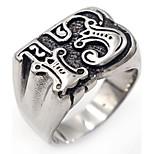 Муж. Классические кольца Геометрический Классика Нержавеющая сталь В форме чисел Бижутерия Назначение