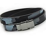 Муж. Кожаные браслеты Wrap Браслеты Бижутерия Панк Мода Кожа Титановая сталь Геометрической формы Бижутерия Назначение Повседневные На