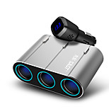 sast ay-t58 зарядное устройство для автомобильного зарядного устройства 3 выхода 4 порта USB 4.8a dc 12v-24v