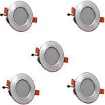 5pcs 3w 300lm led downlights лампы 3000k / 4000k / 6500k привели светильник для дома и офиса ac85-265v