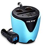 hsc hsc200 автомобильное зарядное устройство 63 см 2 выхода 2 порта USB 3.1a dc 12v-24v