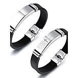 Муж. Кожаные браслеты Хип-хоп Rock Титановая сталь силикагель Крестообразной формы Бижутерия Назначение Для вечеринок День рождения