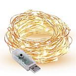 1.5W Гирлянды 300 lm <5V V 10 м 100 светодиоды Теплый белый белый красный желтый синий зеленый фиолетовый розовый Разные цвета