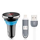 libos l8 автомобильное зарядное устройство дисплейное напряжение быстрая зарядка 2 порта USB 3.1a dc 12v-24v