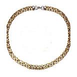 Муж. Ожерелья-цепочки Бижутерия Геометрической формы Титановая сталь Винтаж Бижутерия Назначение Повседневные