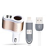 зарядное устройство libos l3 с кабелем 1 розетки 2 порта USB 3.1a dc 12v-24v