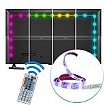 2m usb led strip light водонепроницаемый smd5050 rgb светодиодная лента гибкие светодиодные фонари 44keys дистанционное телевидение