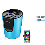 sast ay-t01 автомобильное зарядное устройство с кабельным телефоном. Напряжение дисплея. Быстрая зарядка. 2 выхода. 2 порта USB. 3.1a dc