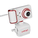 USB-камера с поворотным фокусом Угол обзора камеры с ПК Встроенный микрофон / 3 светодиода / стиль клипа / hd-дисплей