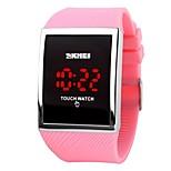 skmei горячее сбывание промотирования привело водить вахту для женщин цифровой браслет wristwatches женщин сенсорный экран электронные