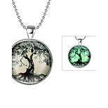 Муж. Жен. Ожерелья с подвесками Бижутерия Дерево жизни Серебрянное покрытие Мода Бижутерия Назначение Повседневные