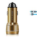 Solam c35 автомобильное зарядное устройство с быстрым зарядом кабеля 2 порта USB 3.1a dc 12v-24v