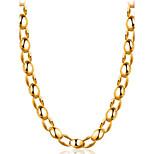 Муж. Ожерелья-бархатки Бижутерия Геометрической формы Позолота Мода Бижутерия Назначение Повседневные