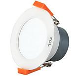 tcl® 1pc 5w led downlight celing светлый теплый белый / белый ac220v размер отверстие 95 мм 4000k / 5700k