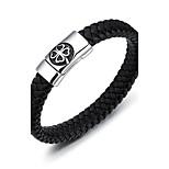 Муж. Браслет цельное кольцо Браслет разомкнутое кольцо Бижутерия Мода Винтаж Титановая сталь Круглой формы Бижутерия Назначение